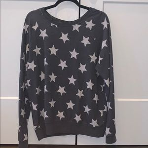 Grey star graphic sweatshirt